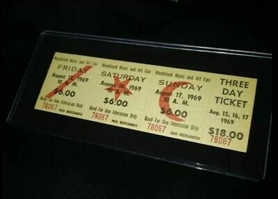 Advance Sale $18 Mint Woodstock 1969 Authentic 3 Day Ticket Hendrix Ccr Cocker