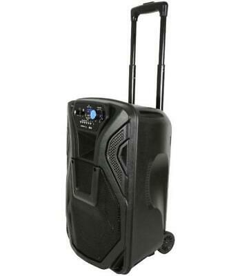 """Busker Portable 10"""" PA with UHF Microphones, Media Player & Bluetooth - QTX"""