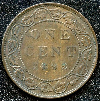 1892 Canada Large Cent Coin ( F2 )