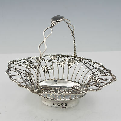 Georgian Silver Swing Handle Basket London 1768