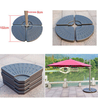HOT Round Grey Parasol Base Stand Weights for Banana Hanging Cantilever Umbrella