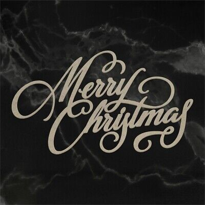 Couture Creations Naughty Or Nice Chipboard-merry Christmas Sentiment