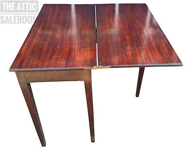 Charming Old Antique Mahogany Folding Table, Dining, Card, Side, Console etc