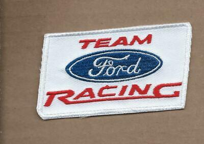 New 1 7/8 X 3 3/8 Inch Ford Racing Team Iron On Patch Free Shipping