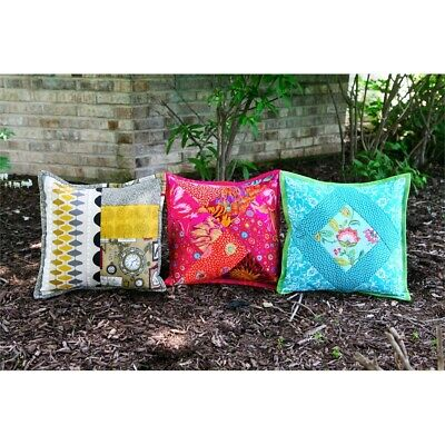 June Tailor Quilt As You Go Pillow Cover-assorted 3/pkg