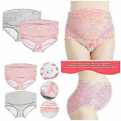 Women's Underwear Adjustable Cotton New Cute Cartoon High Waist Pregnant Panties
