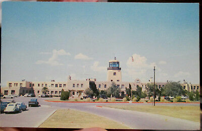 c1950s Entrance to Municipal Airport El Paso Texas TX postcard view