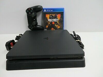 Sony Playstation 4 Slim W/ Black Ops 4 & Controller 500Gb Black Gaming Console