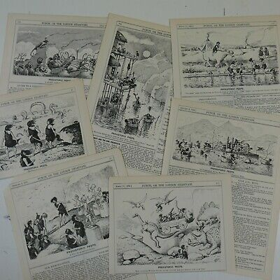 7x punch cartoon / illustrations by E T REED 1894 prehistoric peeps