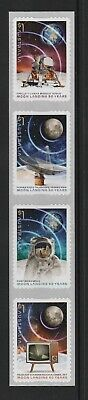 AUSTRALIA 2019 - MOON LANDING 50 Years - set of 4 P&S Stamps from the COILS  MNH