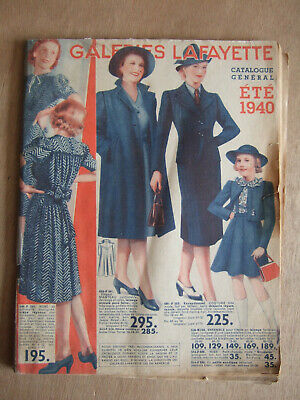 Catalogue General Galeries Lafayette Ete 1940 Mode Manteaux Robes Chapeaux