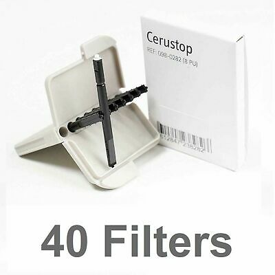 PHONAK FILTERS Cerustop Wax Guard Hearing Aid WaxTrap Change 40 Filter Pack