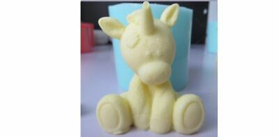 Patchwork Unicorn 3DSilicone Mould Duo for soaps, candles