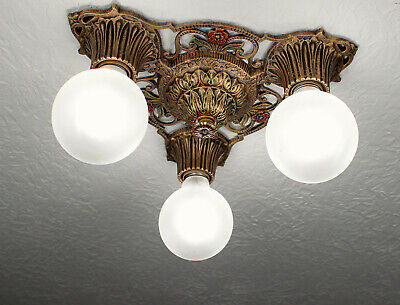 30's VIRDEN WINTHROP Antique Vintage Ceiling Light CHANDELIER