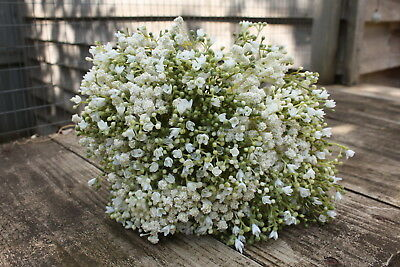 16 x ARTIFICIAL IVORY GYPSOPHILA SPRAYS  WIRED STEMS 28cm