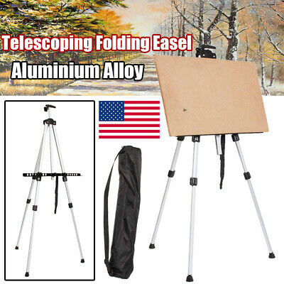Telescoping Alloy Folding Easel Artist Adjustable Painting Tripod Display Stand