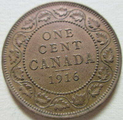 1916 Canada Large Cent Coin. NICE GRADE (RJ820,437,846,847)