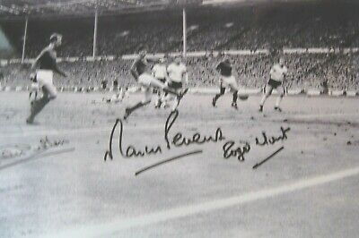 1966 World Cup Signed 12X8 Photo  By Peters Jack Charlton & Roger Hunt