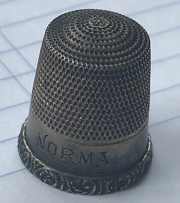 Sterling Silver Thimble marked and has name of 'NORMA'  See pics for details