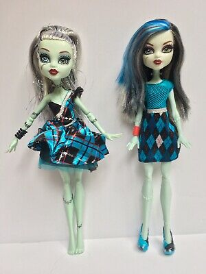 Monster High Lot of Two (2) Frankie stein Dolls Used
