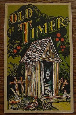 Old Timer Out House Humor Funny Tragic 1945