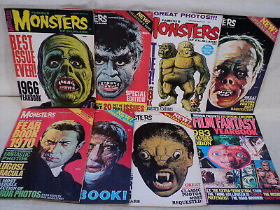 Famous Monsters of Filmland Yearbook Fearbook LOT 8 Issues! 1966-72 Warren m860