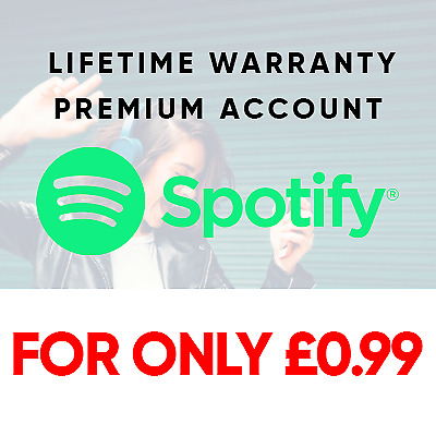 Spotify Premium | Lifetime Warranty | Only £0.99