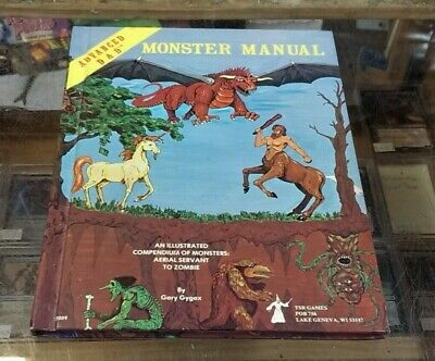 Advanced Dungeons & Dragons Monster Manual 1st ed 4rd printing / HIGH Grade !