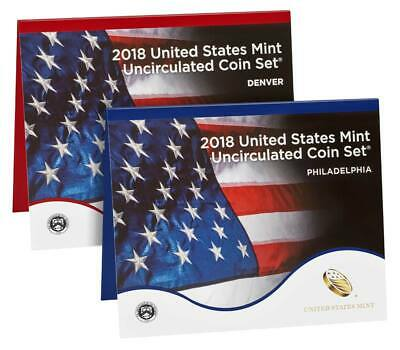 2018 United States Mint Uncirculated Coin Set (18RJ) P&D