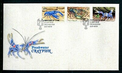 2019 Freshwater Crayfish (Gummed Stamps) FDC - Freshwater QLD 4870 PMK