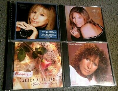 Lotto di 4 Barbra Streisand CD' S Film Album Back To Broadway Memories Just Per