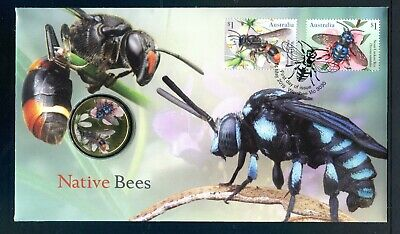 2019 Native Bees FDC/PNC With Perth Mint $1 Coin - Post Marked Werribee Vic 3030