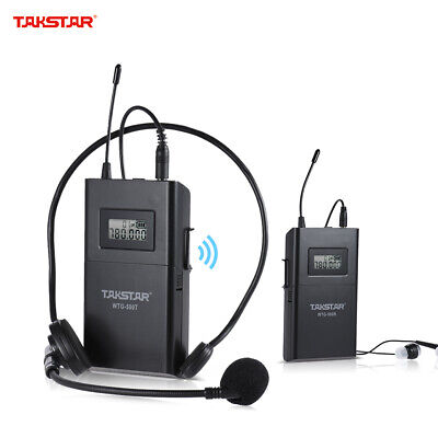 UHF Wireless Acoustic Transmission System Transmitter + Receiver 100m U7E1