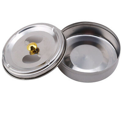 Portable Round Stainless Steel Cigarette Lidded Ashtray Windproof Ashtray HC