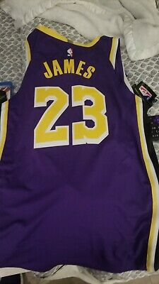 huge selection of 109c7 2c8a7 100% AUTHENTIC LEBRON James Nike City Edition Lakers jersey Size 56 2XL