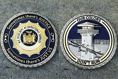 """NYSDOCS 2"""" Challenge Coin New York State Department of Corrections Officer"""