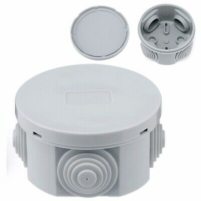 Round Waterproof Weatherproof Junction Box Plastic Electric Enclosure Case