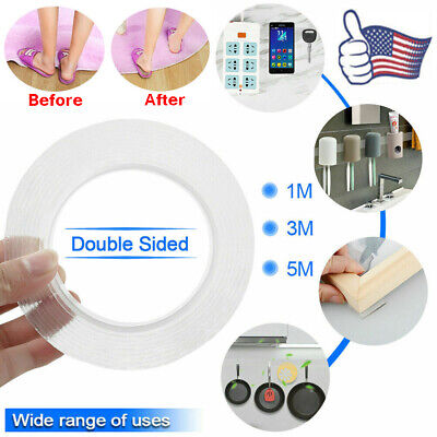 Magic Double-sided Grip Tape Traceless Washable Adhesive Gel Nano Invisible Tape