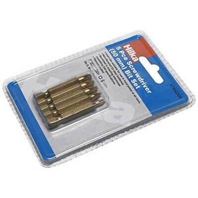 5 Pce Pozi Assorted 50mm Titanium Bits - Fum Screwdriver Tools Bit Hilka Draper