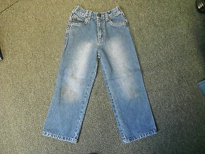 "ENRG Straight Jeans Waist 22"" Leg 18"" Faded Dark Blue Boys 5/6 Yrs Jeans"