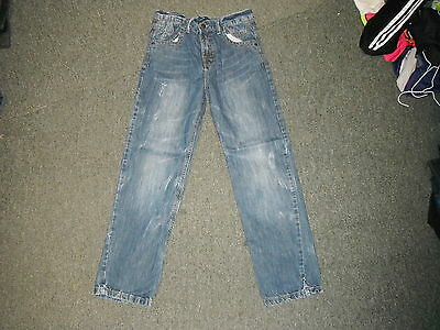 "John Lewis Straight Jeans Waist 28"" Leg 27"" Faded Dark Blue Boys 12 Yrs Jeans"