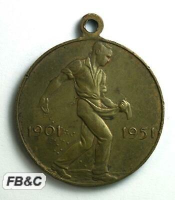1951 Commonwealth of Australia 50 Years Medal - Sowing Wheat
