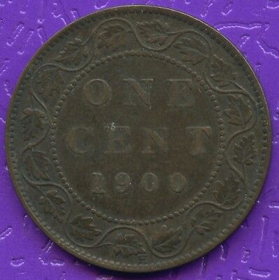 1900 'H'  Canada 1 Cent Coin