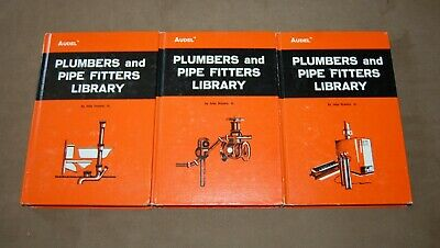 Complete 3 Hardcover Volumes of Audel Plumbers And Pipe Fitters Library