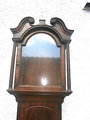 EARLY mahogany  LONGCASE CLOCK  case for a  13X18 inch dial C1840