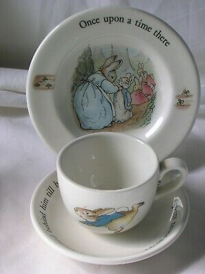 Lovely Wedgwood 'Peter Rabbit' miniature trio - cup, saucer and plate
