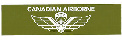 Canadian Airborne - Bumper Decal- With Canadian Parachute Wing Design