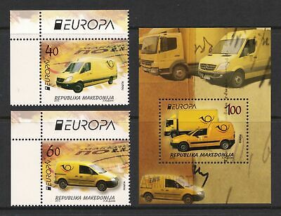 Macedonia 2013 EUROPA Stamps - Postal Vehicles - MNH Set - Cat £16.50 - (48)