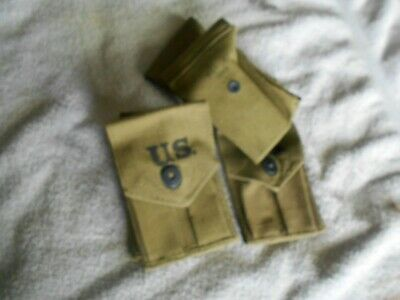 WW2 USGI Colt 1911A1 magazine pouch 1942 date lift the dot BOYLE nice condition