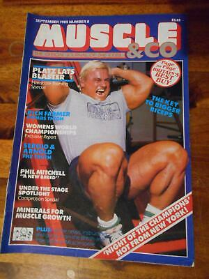 MUSCLE & CO bodybuilding fitness magazine TOM PLATZ 9-85 (UK)